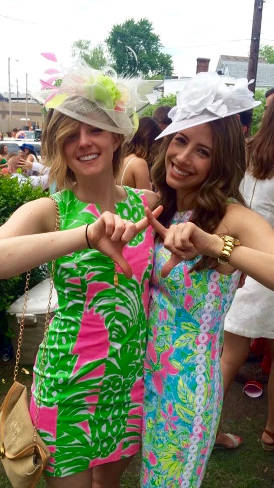 kentucky derby, hats, lily pulitzer, big, little, chi omega
