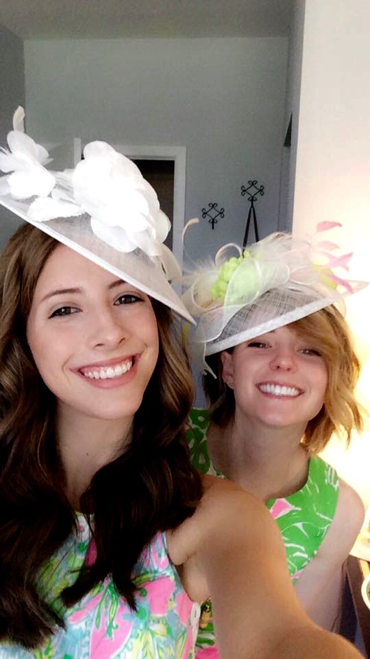 kentucky derby, hats, lily pulitzer, big, little