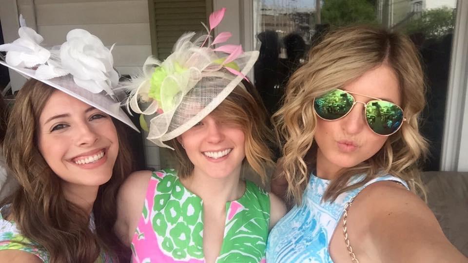 kentucky derby, hats, lily pulitzer, big, little